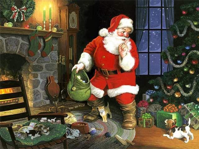 Christmas Scene Art By Tom Newsom