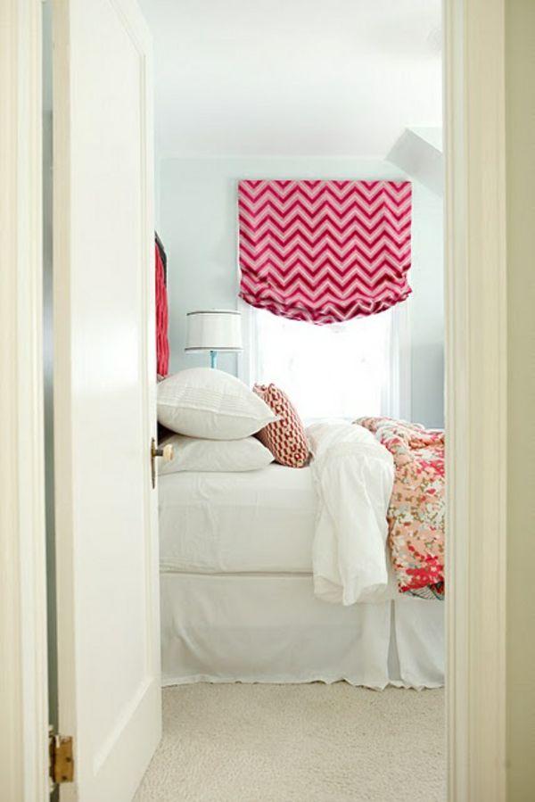 raffrollo nähanleitung chavron rosa schlafzimmer rosa | house and, Schlafzimmer ideen