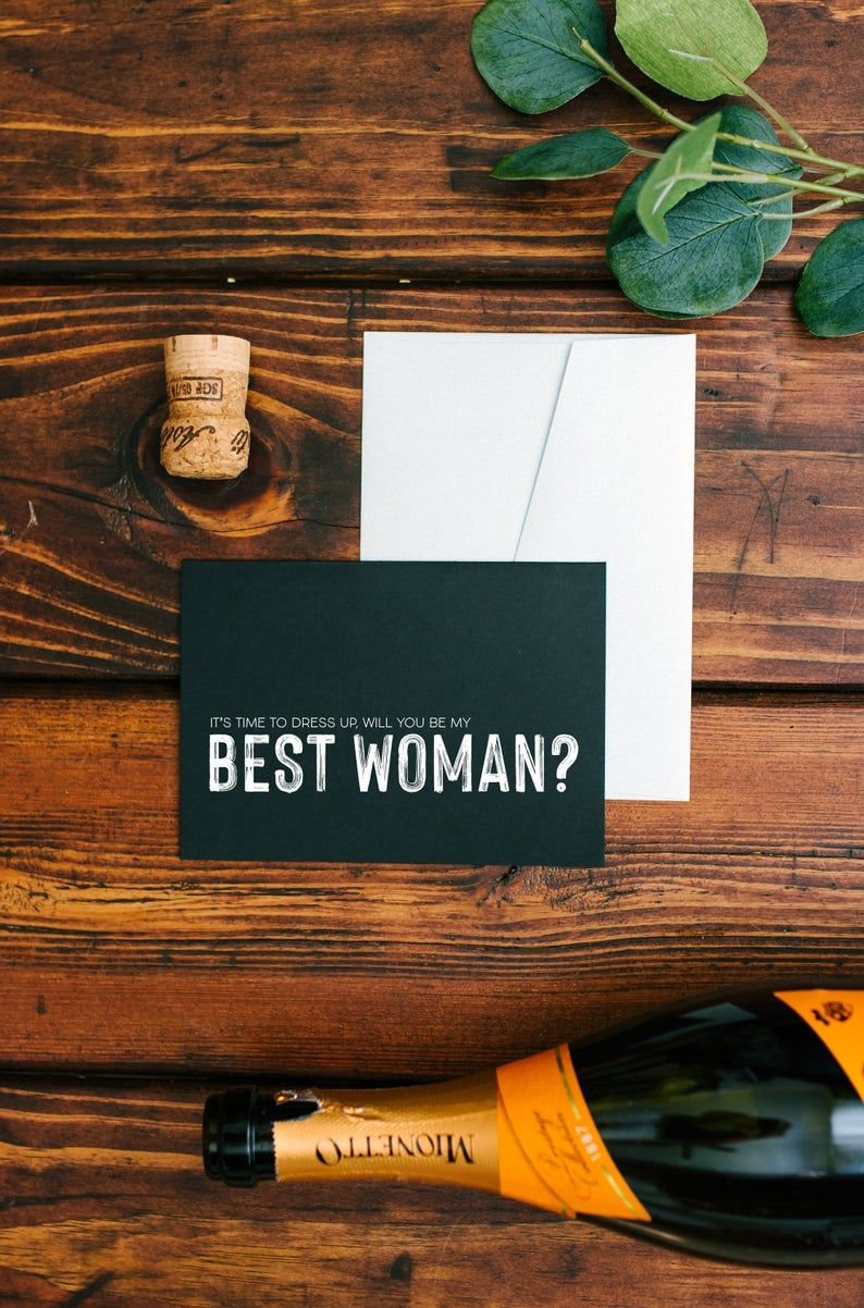 Groomswoman Unique Role Bridesman Best Woman Will You Be My Best Woman Proposal Card Wedding Bridal Party Cards for Man of Honour