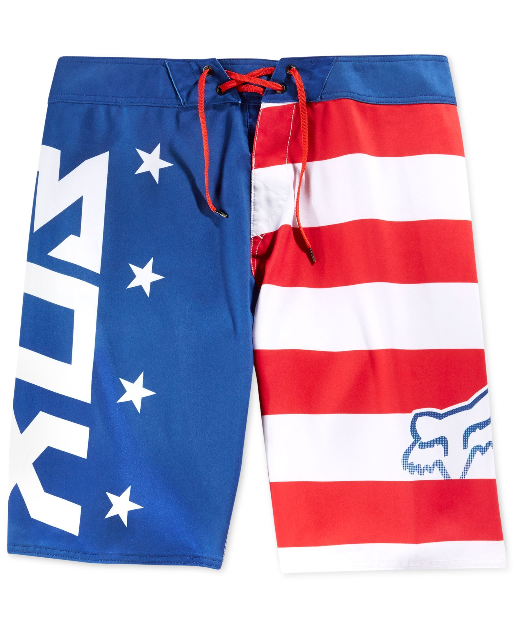 Fox Red White and True Board Shorts | Kams | Pinterest
