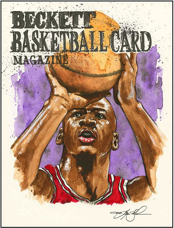 Michael Jordan Beckett Basketball Original Artwork by Artist Kevin-John Jobczynski