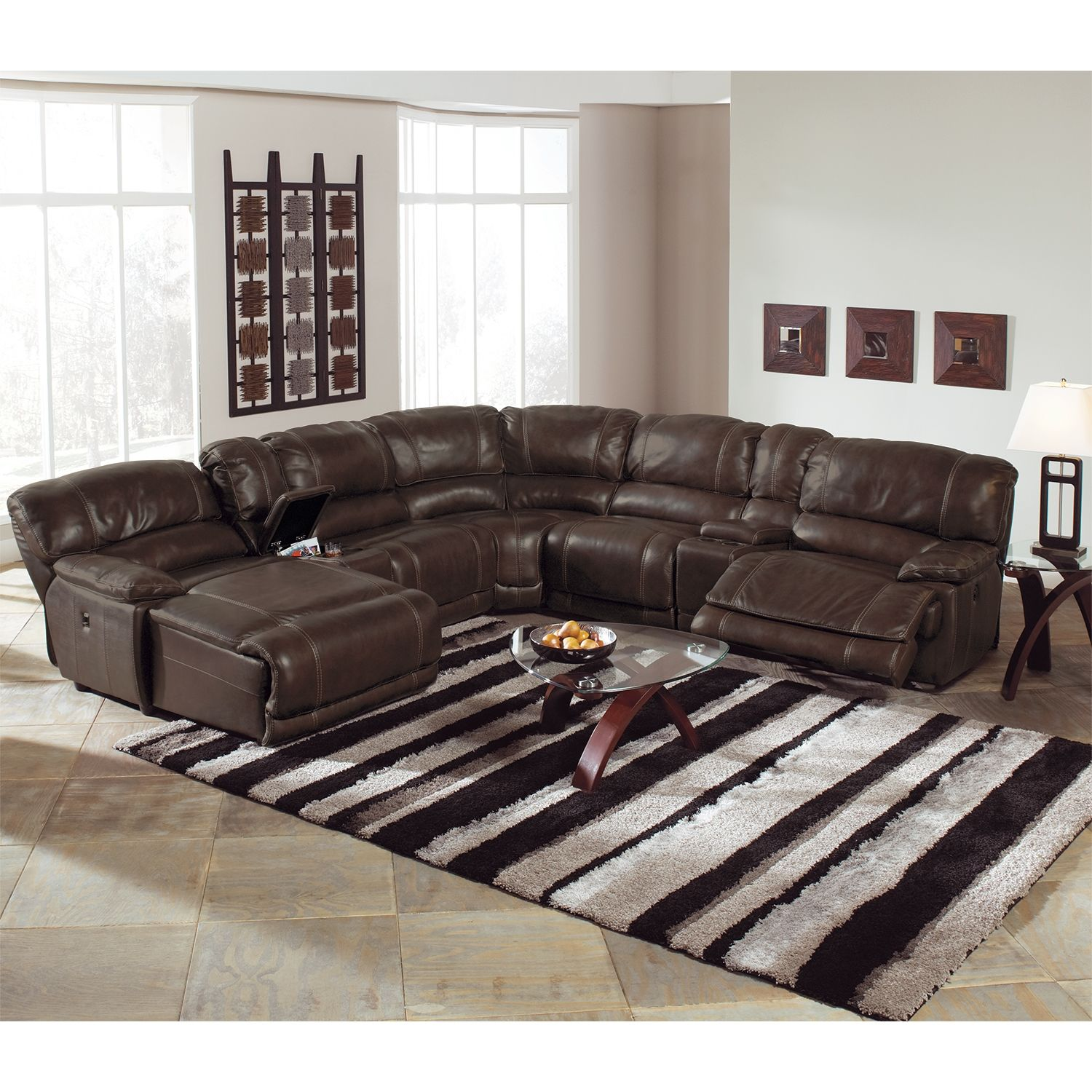 Best St Malo 6 Piece Power Reclining Sectional With Left 400 x 300