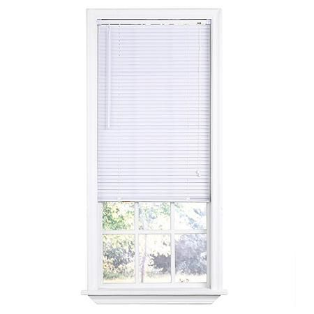 Waterproof Blind For Shower Window White Vinyl 1 Indoor Mini Blind 31 X 72 Room Darkening Blinds White Window Treatments Vinyl Mini Blinds