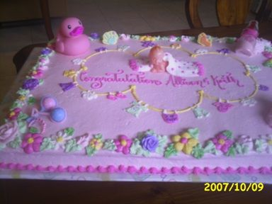 baby shower cakes for girls Gorgeous baby girl baby shower cake