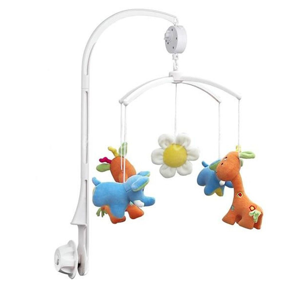 Lovely Rattle Bracket Set Baby Crib Mobile Bed Bell Toy Holder Wind-up Music Box
