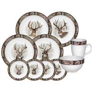 Camo Deer Dinnerware Kitchen Camo Home Decor Deer