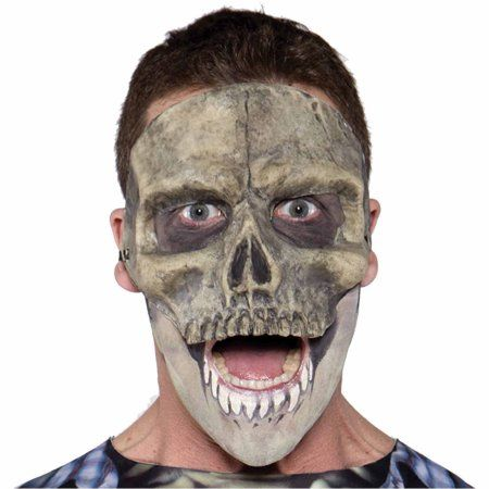 Skull Mask Latex Adult Halloween Accessory - Walmart Mask