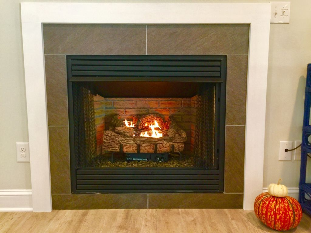 Gas fire place, available and turned on in the winter time