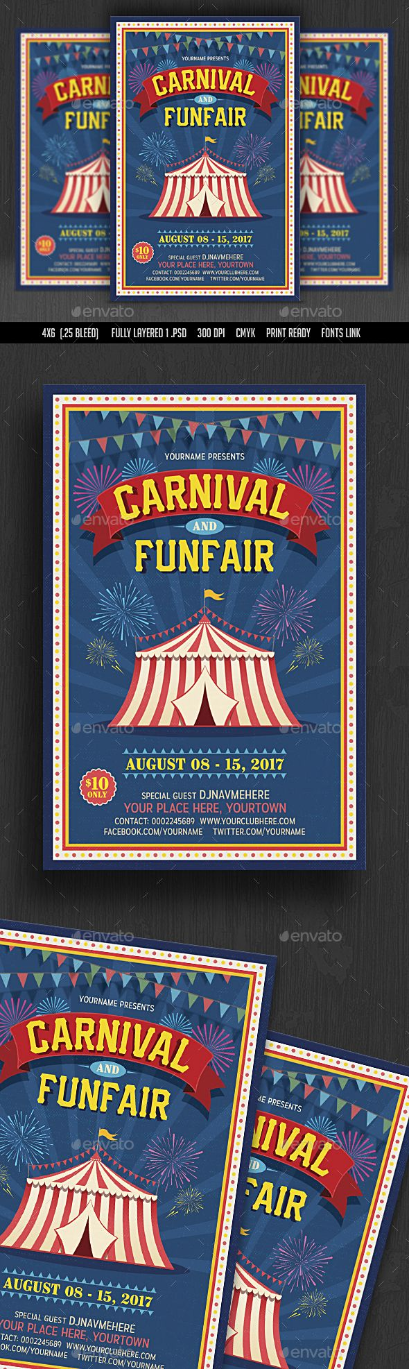 Carnival Fun Fair Flyer Template Psd Download Here Http