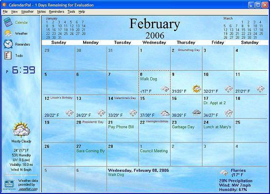 Calendar Planner For Desktop : Free calendars for laptops screenshot calendarpal