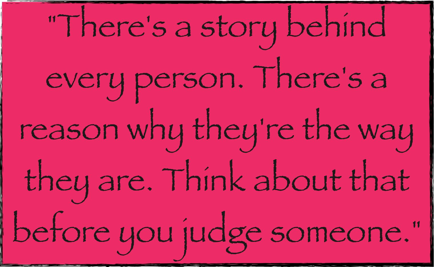 People thinking before they open their mouths and judge..yea, that'll be the day :/