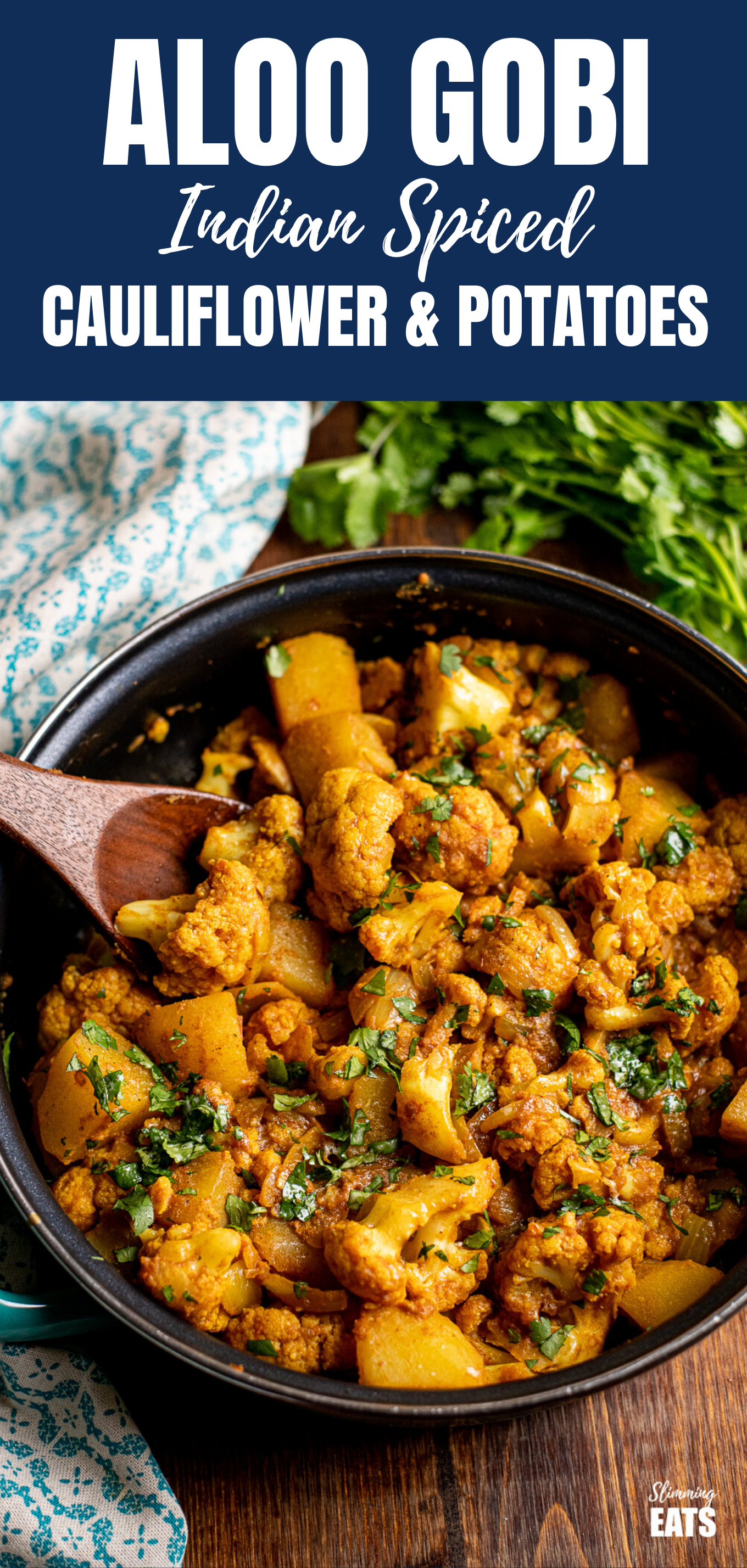 Aloo Gobi (Indian Spiced Potatoes and Cauliflower) | Slimming Eats