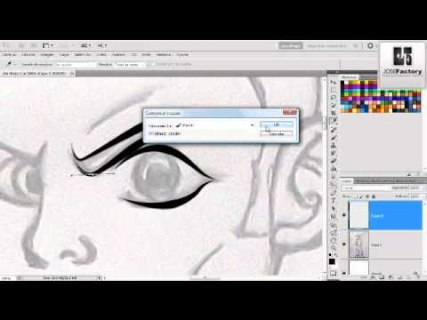 How To Make Line Art Effect In Photoshop : ▷ tutorial trazados line art photoshop cs youtube video