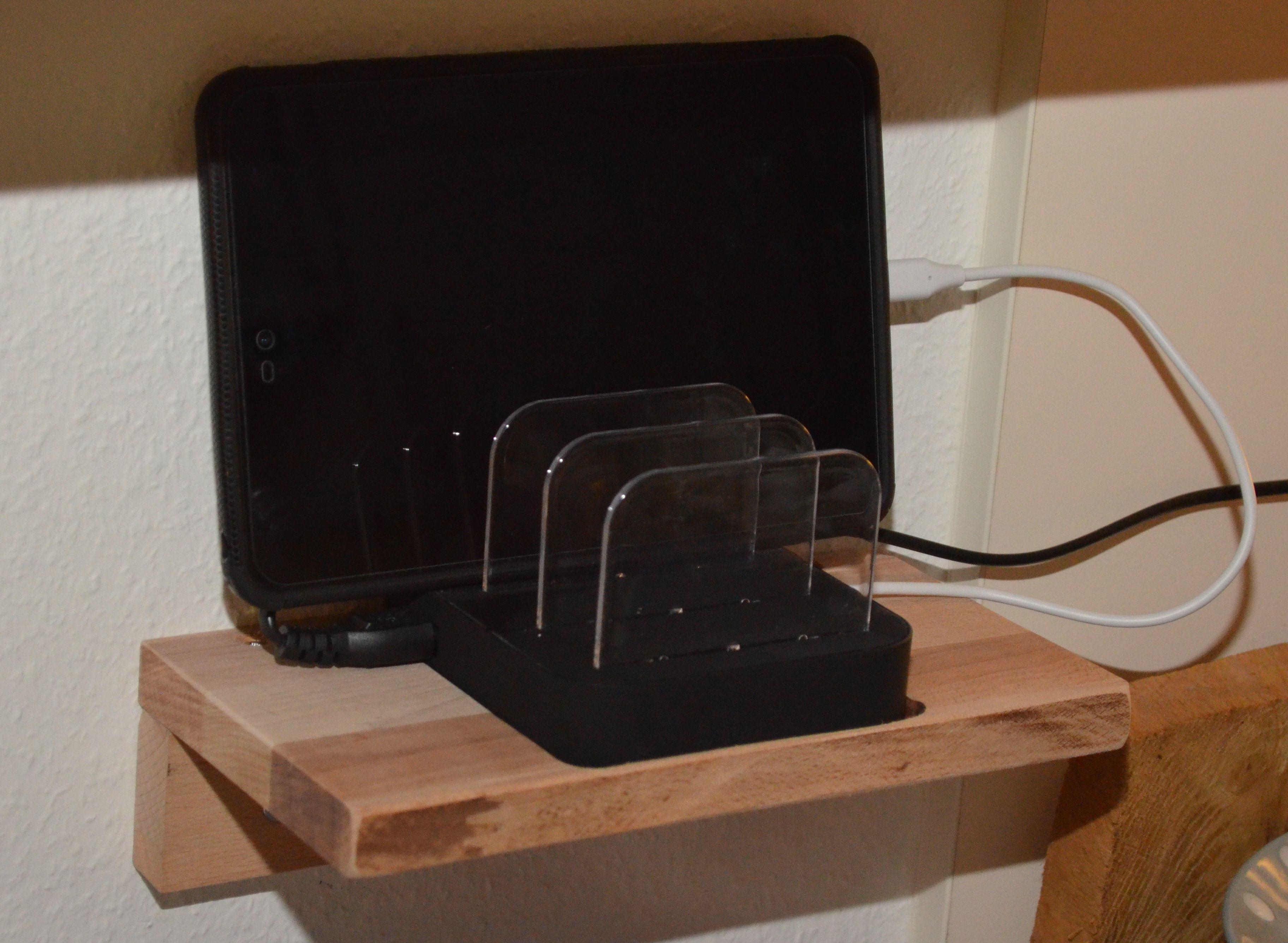 Holz Ablage Für Tablet Smartphone Ladestation Bauanleitung Zum