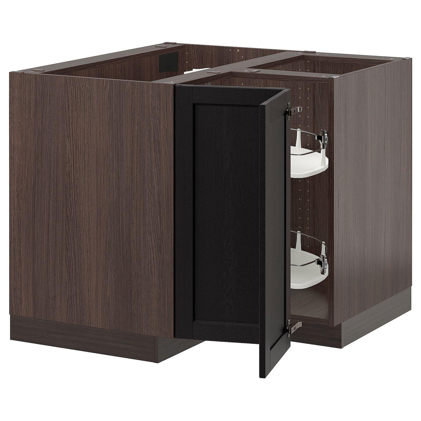 IKEA SEKTION wood effect brown Corner base with