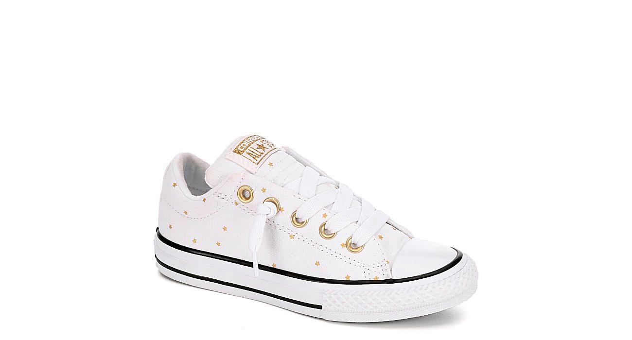 White Converse Girls Street Ox Star