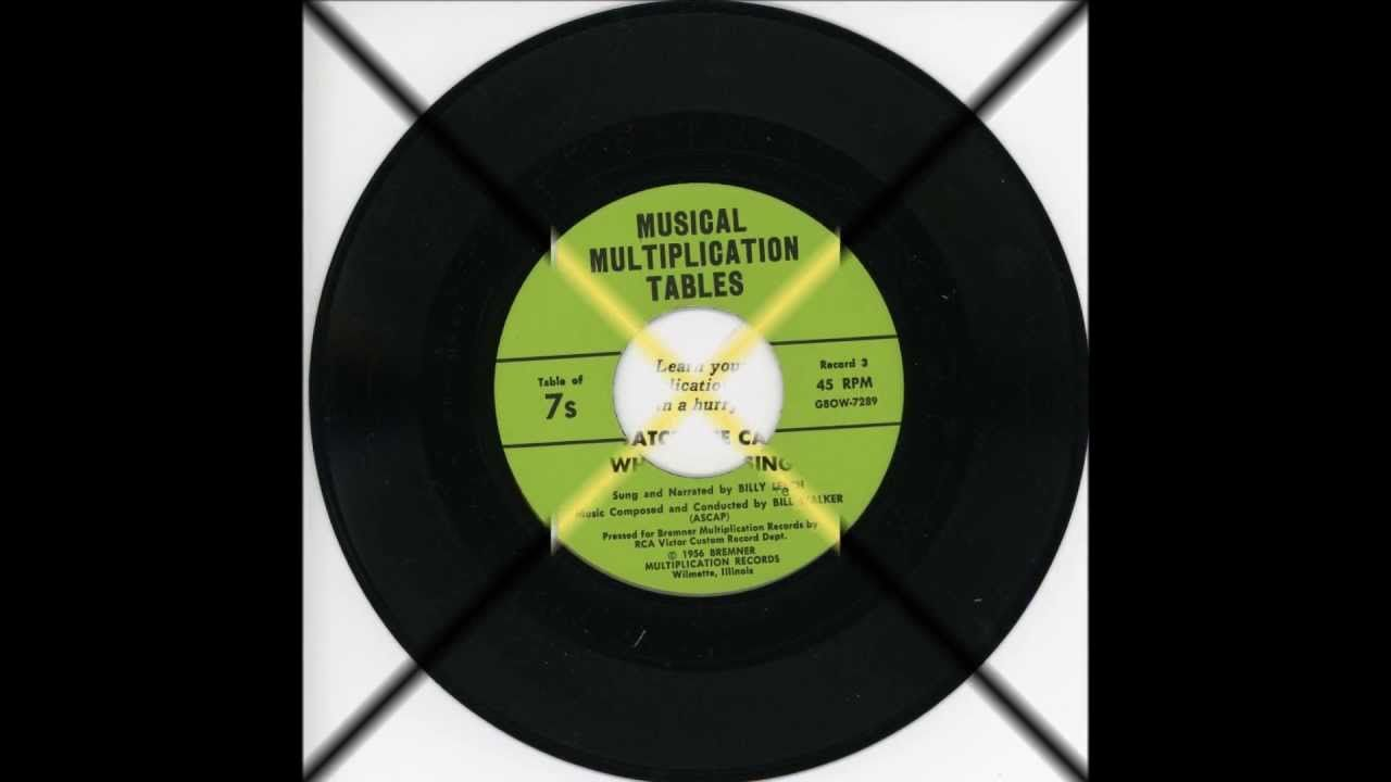 Musical Multiplication Tables 1956 Sung And Narrated By Billy