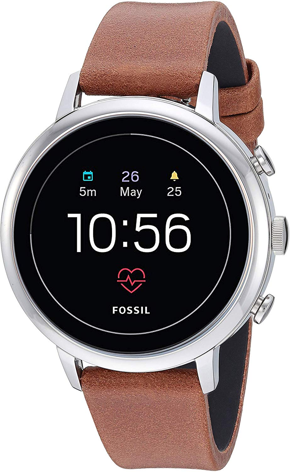 Fossil Women S Gen 4 Venture Hr Heart Rate Stainless Steel Touchscreen Smartwatch Color Rose Gold Model Ftw6011 Watches Smart Watch Gps Fossil