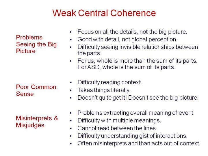 Weak Central Coherance Social Thinking Speech And Language Autism