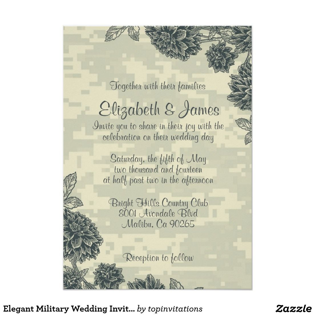 Elegant Military Wedding Invitations | Creative Wedding Invitations ...