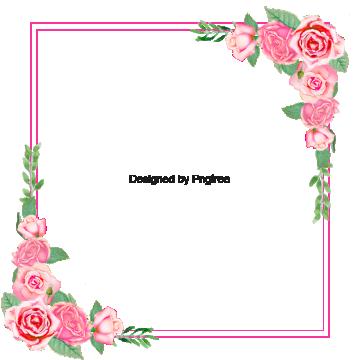 Le Cadre Photo Clipart De Flores Quadro De Flores Botoes De Rosa