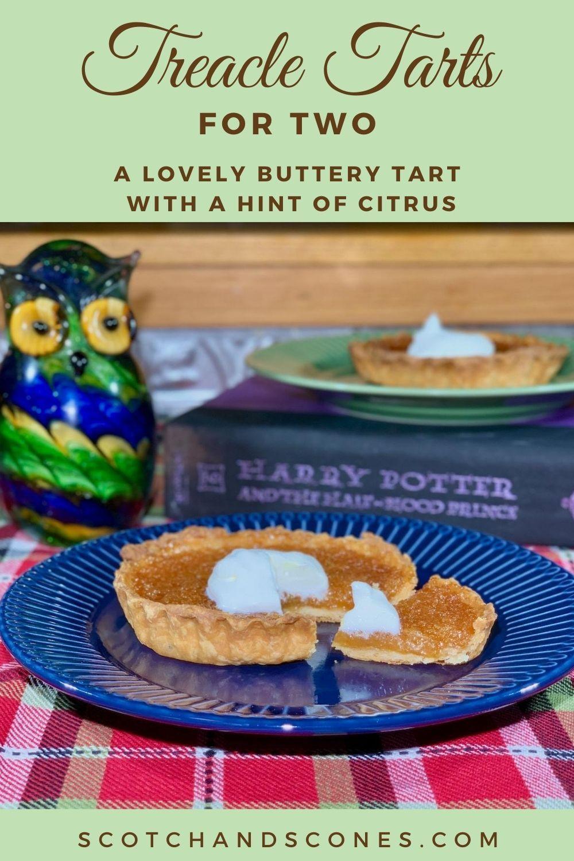 Treacle Tarts For Two A Delightful British Dessert Recipe Tart Butter Tarts Treacle Tart