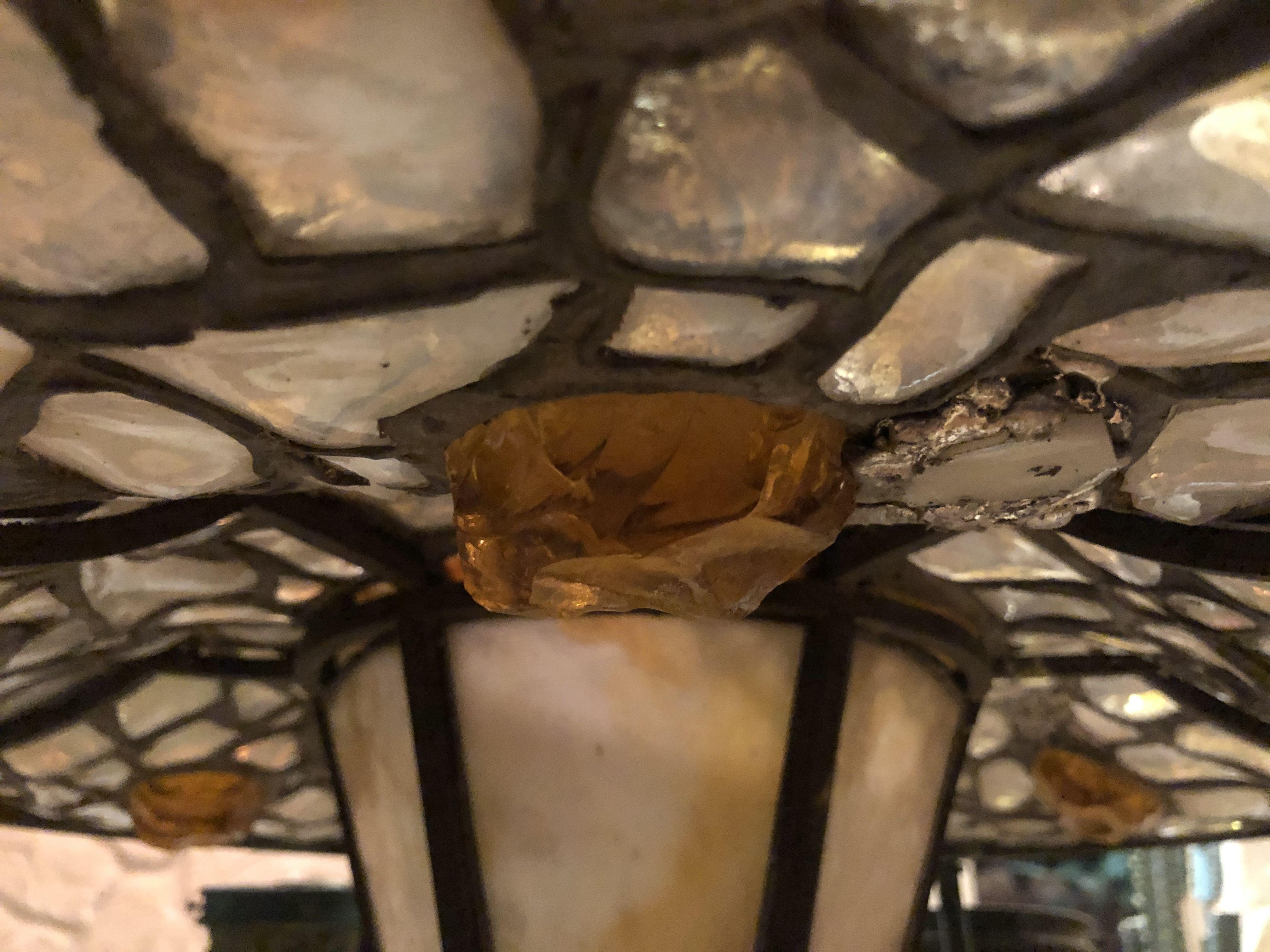 Antike Gas Deckenlampe Bleiverglasung Deckenlampe Lampen Kronleuchter
