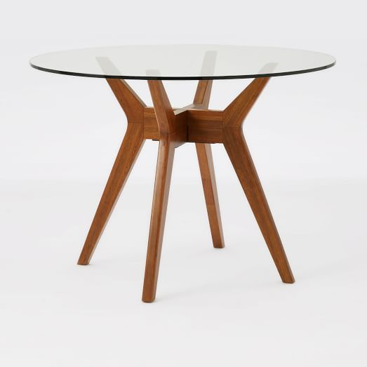Jensen Round Glass Dining Table Glass Apartments And Conference Room - 30 x 42 dining table