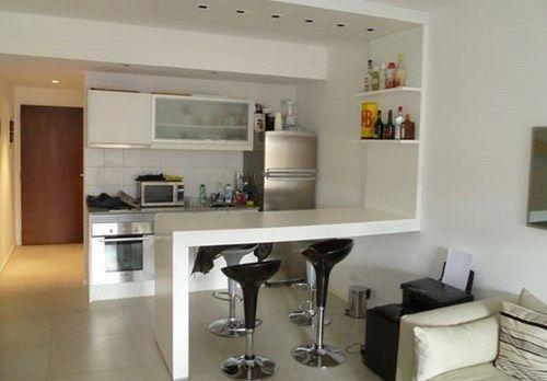 Mesa desayunador para espacios peque os casa pinterest for Mesas para espacios pequenos