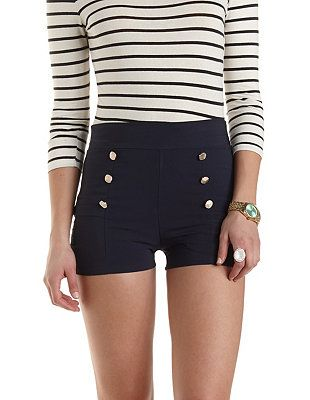 High-Waisted Sailor Shorts: Charlotte Russe $22.99 I love these. I ...