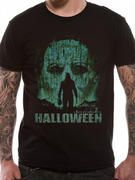 Officially licensed Halloween t-shirt design printed on a Black 100% cotton short sleeved T-shirt.