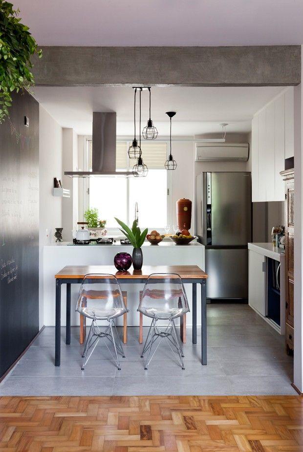 Ambientes integrados cores e plantas pontuam decora o de for Pisos para apartamentos pequenos