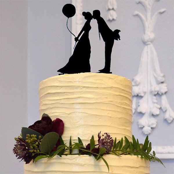 Engagement /Wedding Cake Topper (Groom bride kiss /Pretty &Cute ...