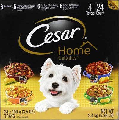 Cesar Canine Cuisine Dog Food Review Wet Dog Food Canned Dog