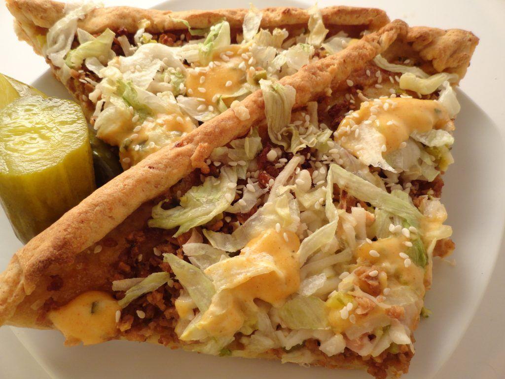 Big mac pizza vegan and gluten free big mac pizza