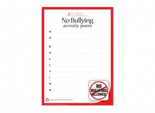 This printable anti bullying acrostic poem template can be used to this printable anti bullying acrostic poem template can be used to encourage your child to express pronofoot35fo Choice Image