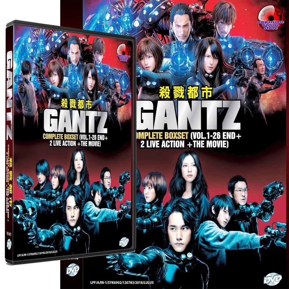 Gantz Complete Boxset Series + 2 Live Action + The Movie