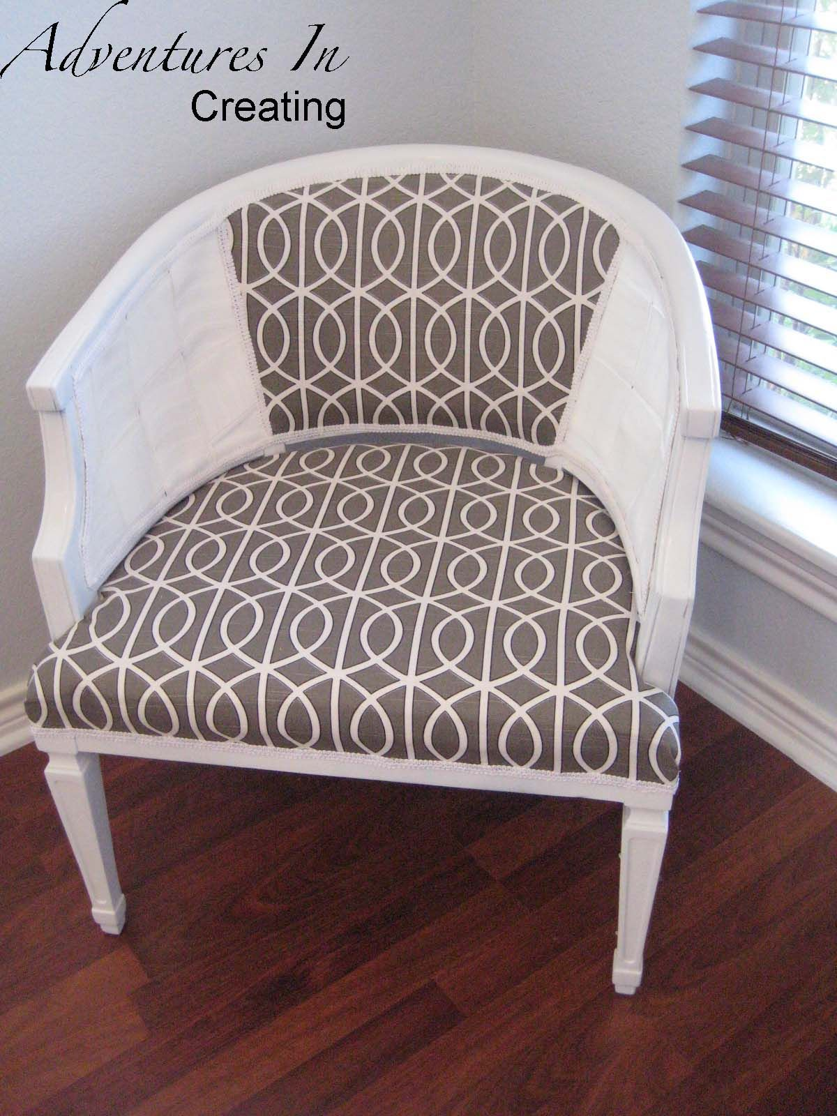 Nice Adventures In Creating: Reupholstered Cane Chair