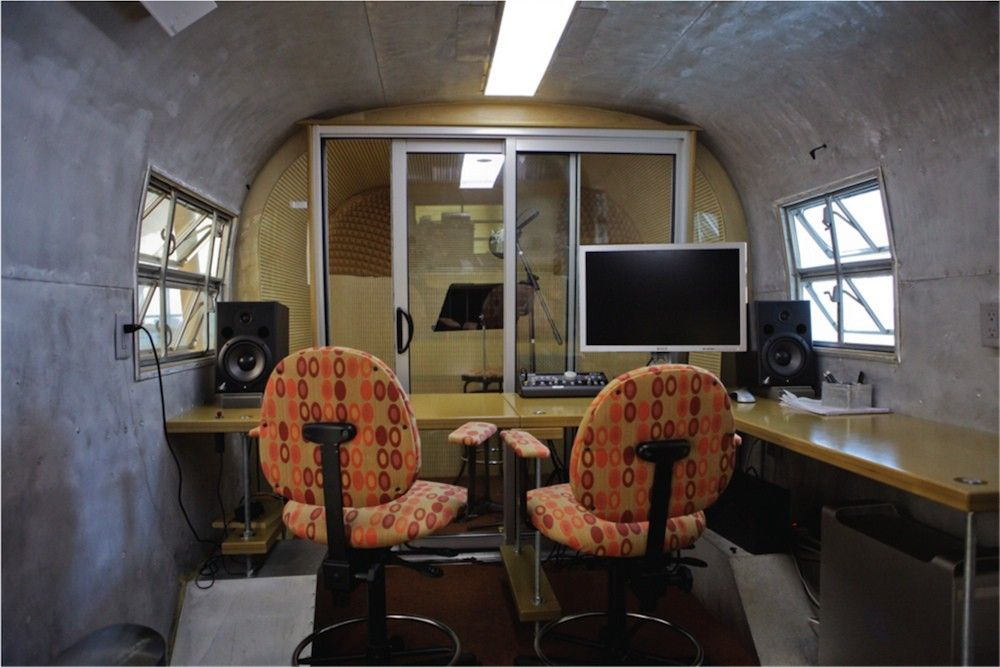 Recording Studio In An Airstream Within Your Office