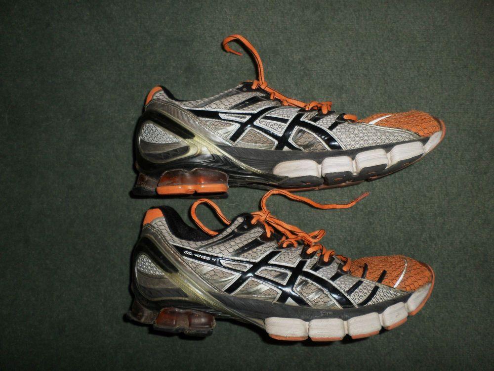 Men's Black, Orange ASICS GELKINSEI 4 Athletic Running
