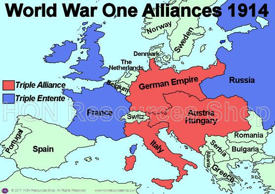 Alliances are part of the 4 MAIN causes. This map illustrates the ...