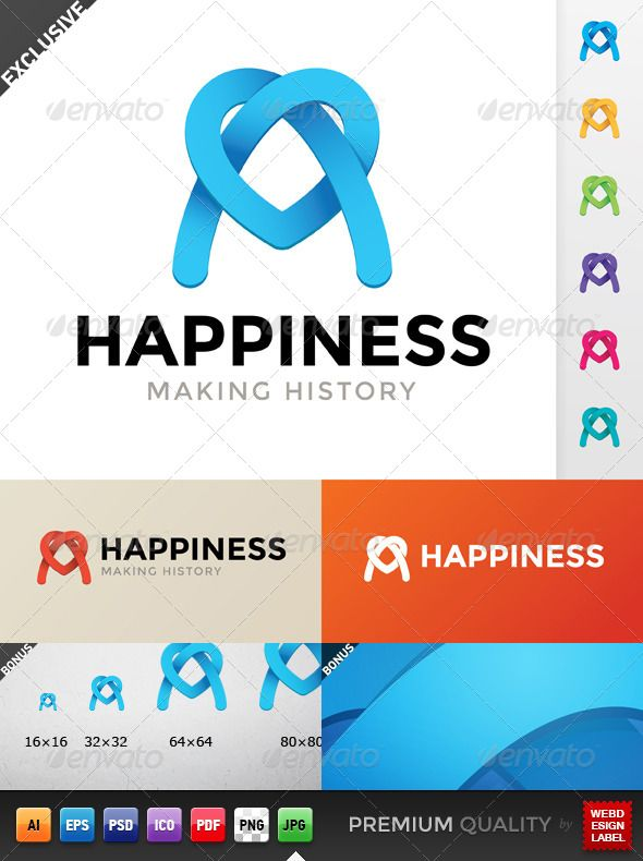 Happiness Logo With Images Logo Templates Logo Design