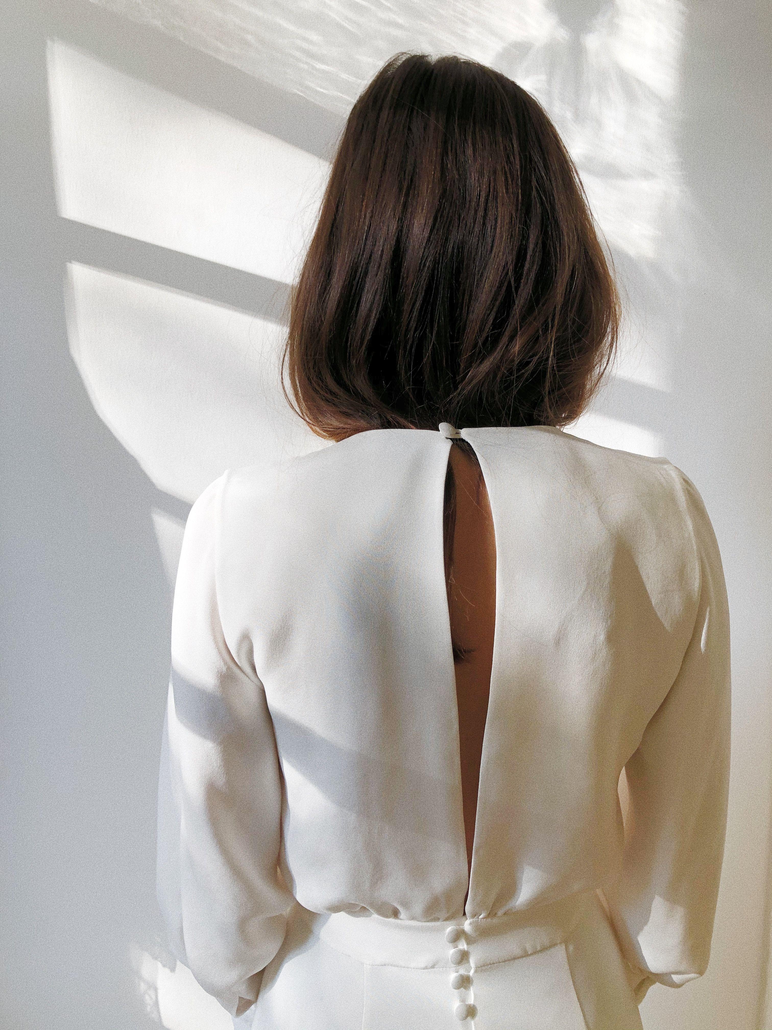 Robe Marguerite - Blanche chez Olympe Mariage