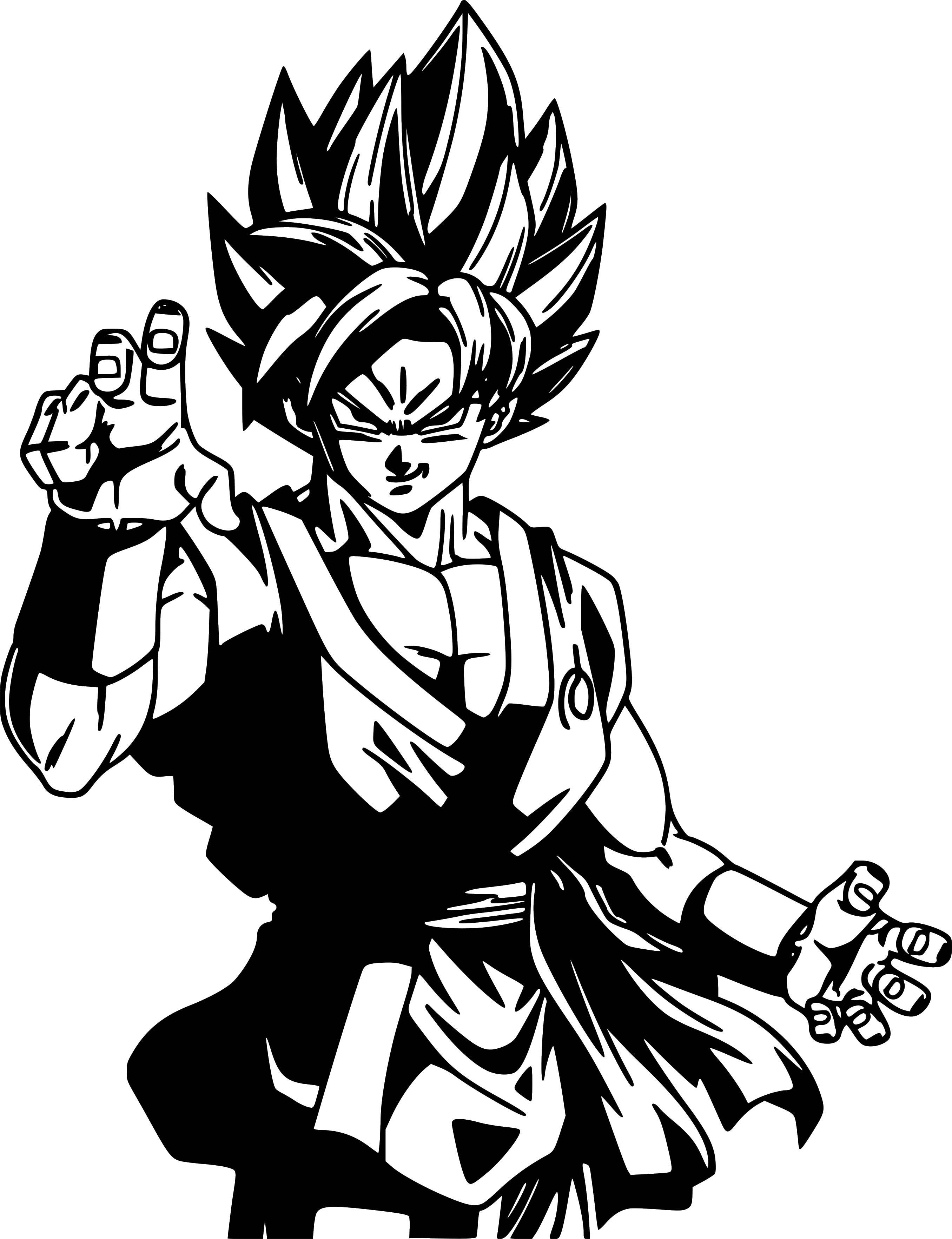Goku super saiyan dragon ball z vinyl sticker decal