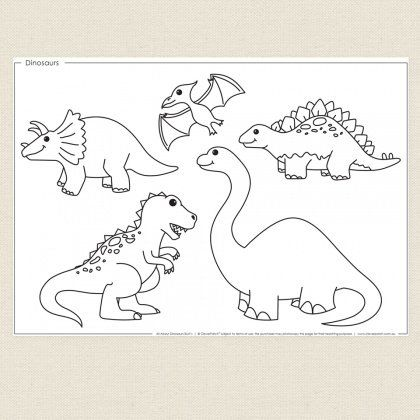 Childrens Colouring In Activity Dinosaurs Colouring Sheet Cleverpatch Dinosaur Coloring Sheets Dinosaur Coloring Coloring Sheets