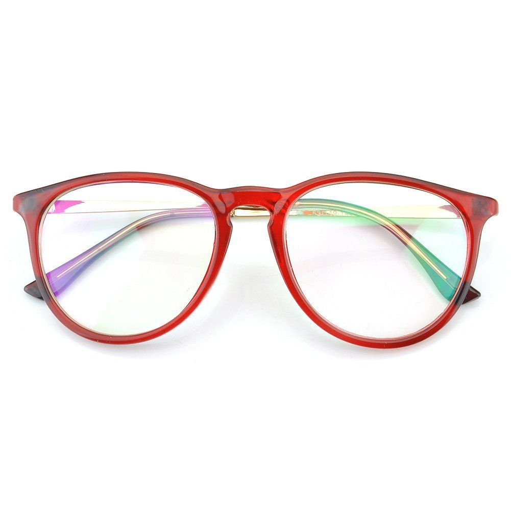 18ed2a159048d Amazon.com: PenSee Womens Fashion Oversized Clear Lens Round Circle ...
