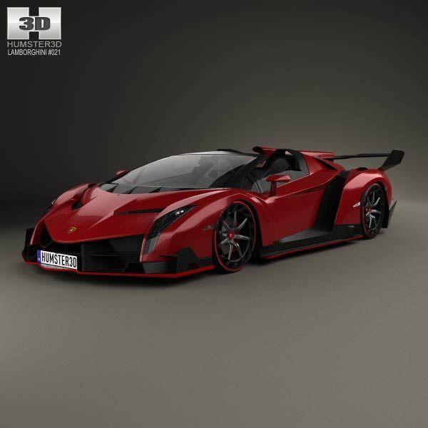 Cool Lamborghini 3D model of Lamborghini Veneno Roadster 2014