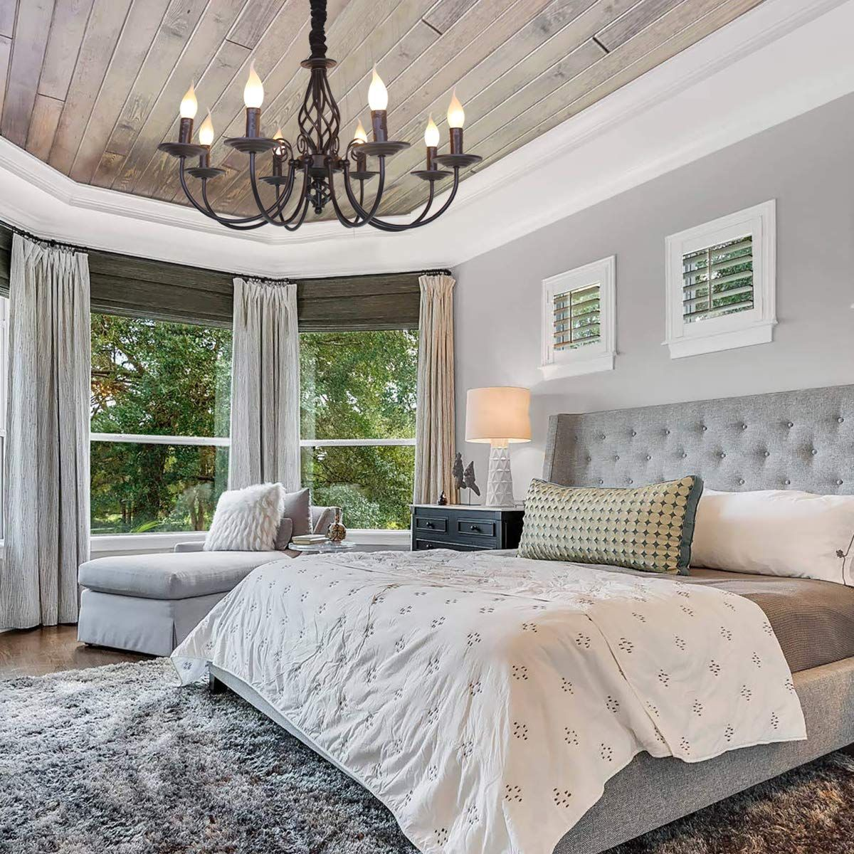 20 Bedroom Chandelier Designs Decorating Ideas: Ganeed Rustic Chandelier,8 Lights French Country