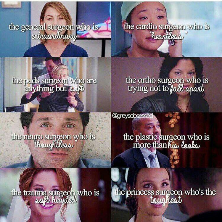 Grey's Anatomy Characters : This is not real life, work ...