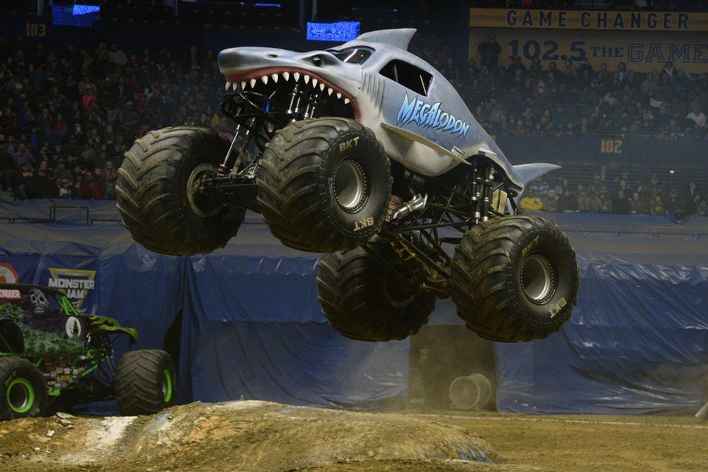 Megalodon Monster Jam With Images Monster Trucks Monster